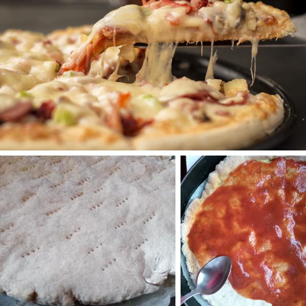 Pizza GK Food világos kenyér lisztkeverékből