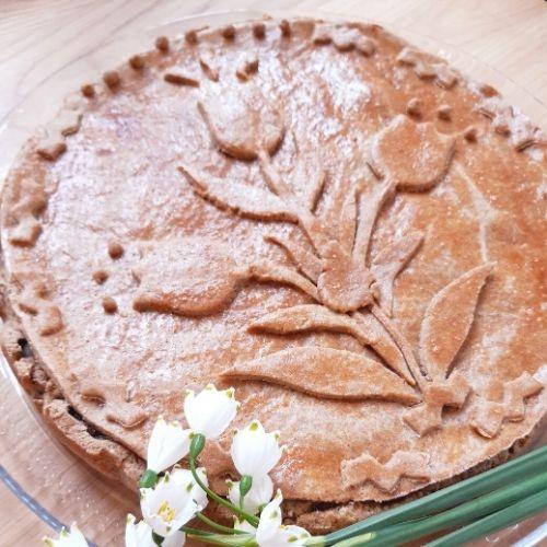 Tulipános almás pite